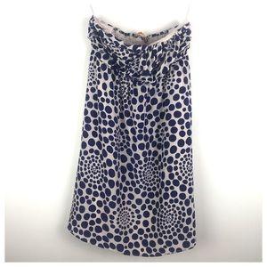 Alice & Olivia Navy Cream Strapless Dress Size XS